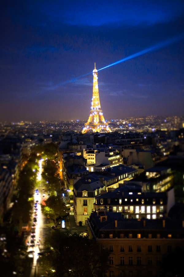 Sparkling Eiffel Tower, Paris, France