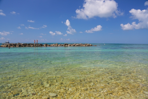 Beach at Fort Zachary Taylor State Historic Site, Key West, FL