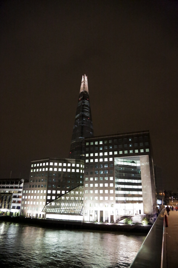 The Shard Lit up at Night, London, England