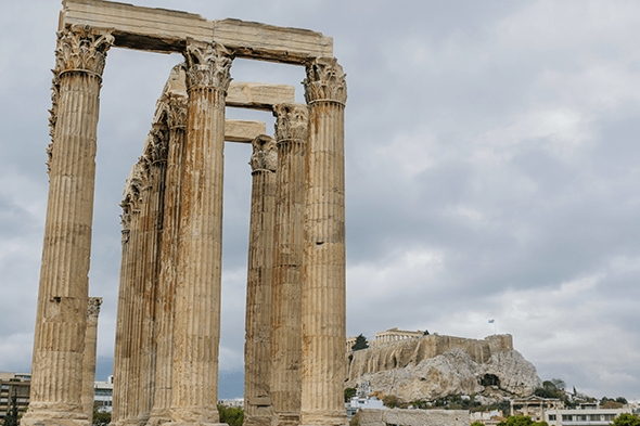 Temple of Olympian Zeus in Athens, Greece by Wander The Map