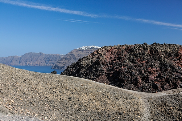Volcano Hike and Sailing in Santorini, Greece