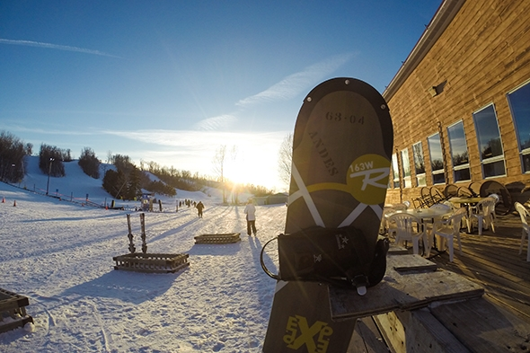 Skiing at Andes Tower HIlls in Alexandria, Minnesota