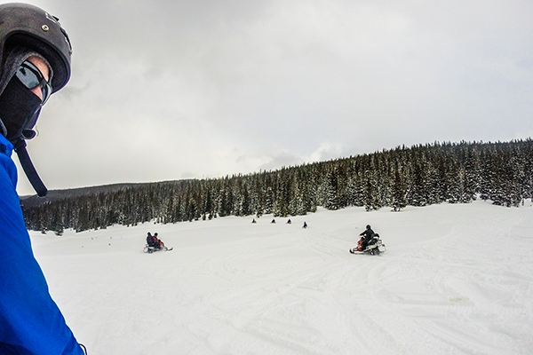 Snowmobile Tour with Good Times Adventures in Breckenridge, Colorado
