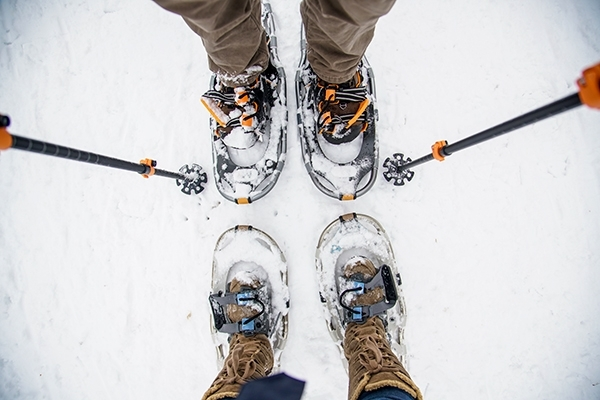 Snowshoeing at the Minnesota Landscape Arboretum in Minnesota