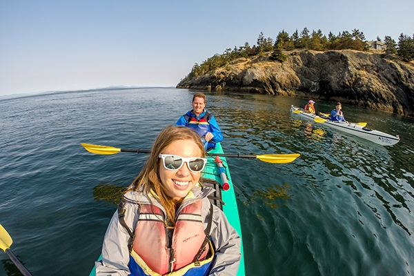 Kayaking the San Juan Islands in Washington