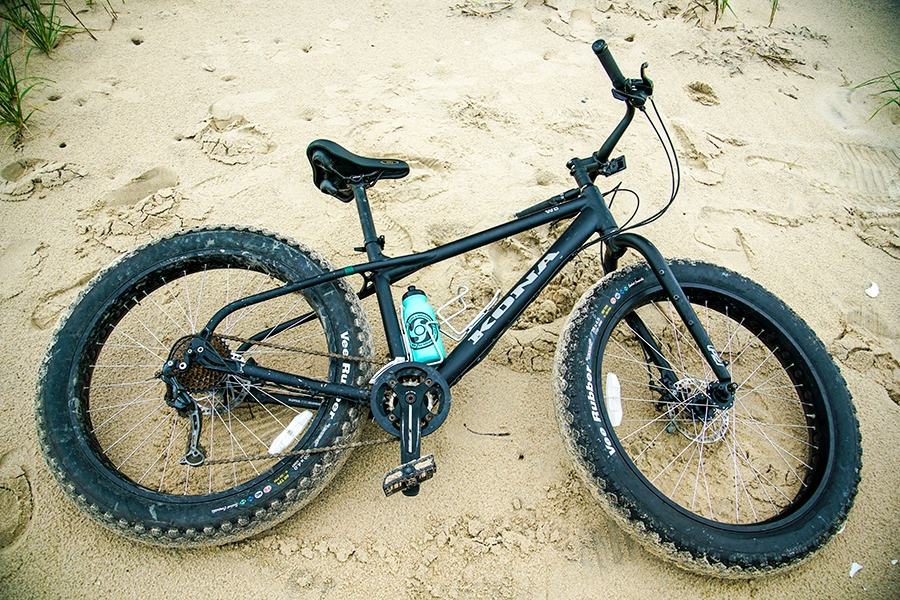 Fat Tire Biking on False Cape Beach, Virginia Beach, Virginia