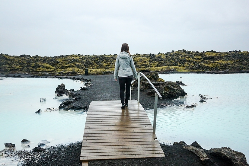 Blue Lagoon in Iceland Under the Midnight Sun