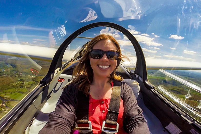 Soaring in a Glider Plane in Elmira, New York