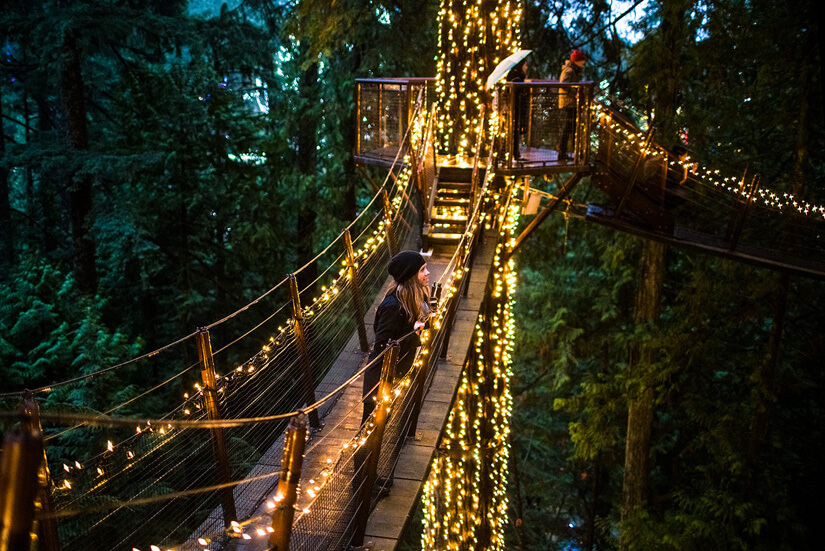 Canyon Lights at Capilano Suspension Bridge Park, Vancouver, Canada