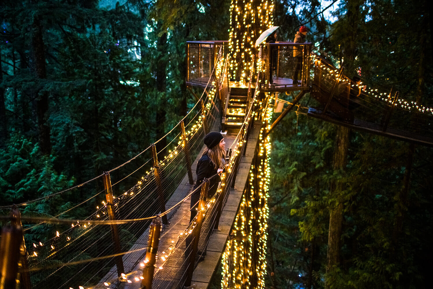 Vancouver Christmas Bridge.Holidays In Vancouver Canyon Lights At Capilano Suspension
