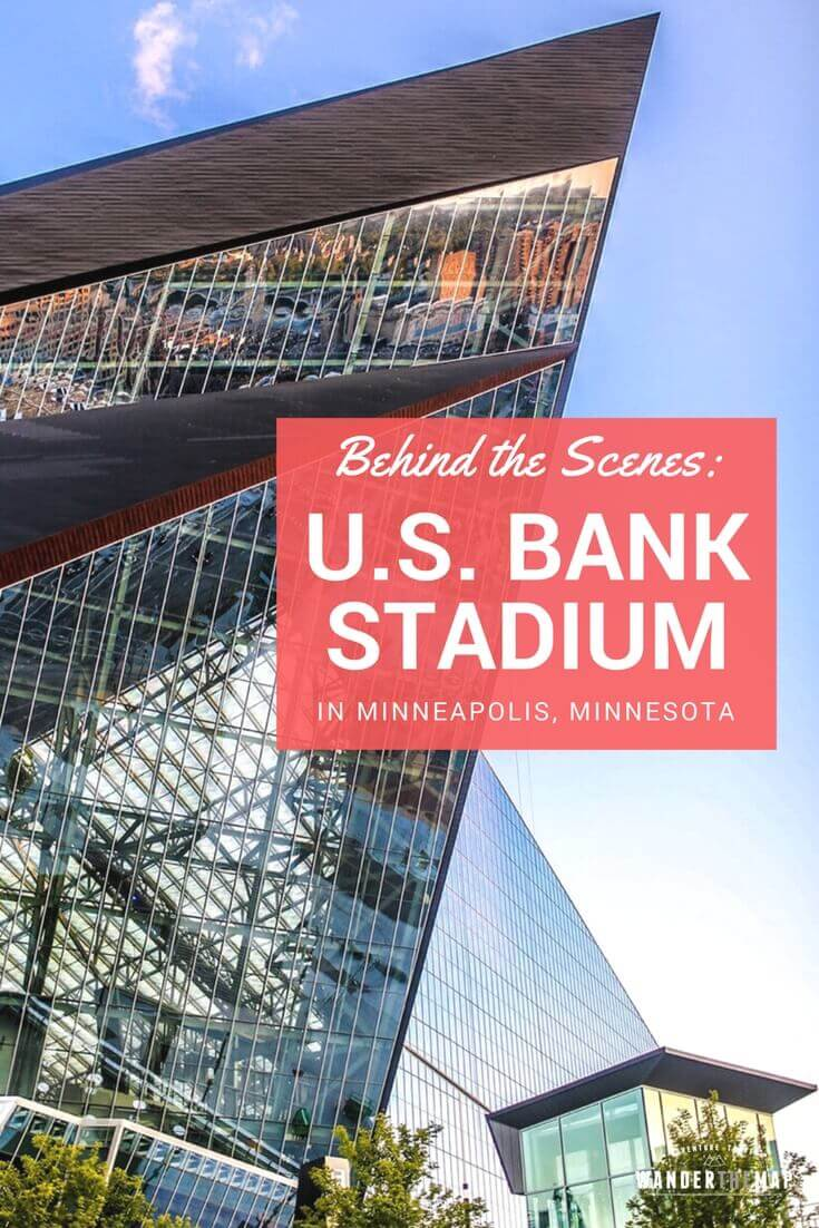 Behind the Scenes Tour at U.S. Bank Stadium in Minneapolis, Minnesota, USA