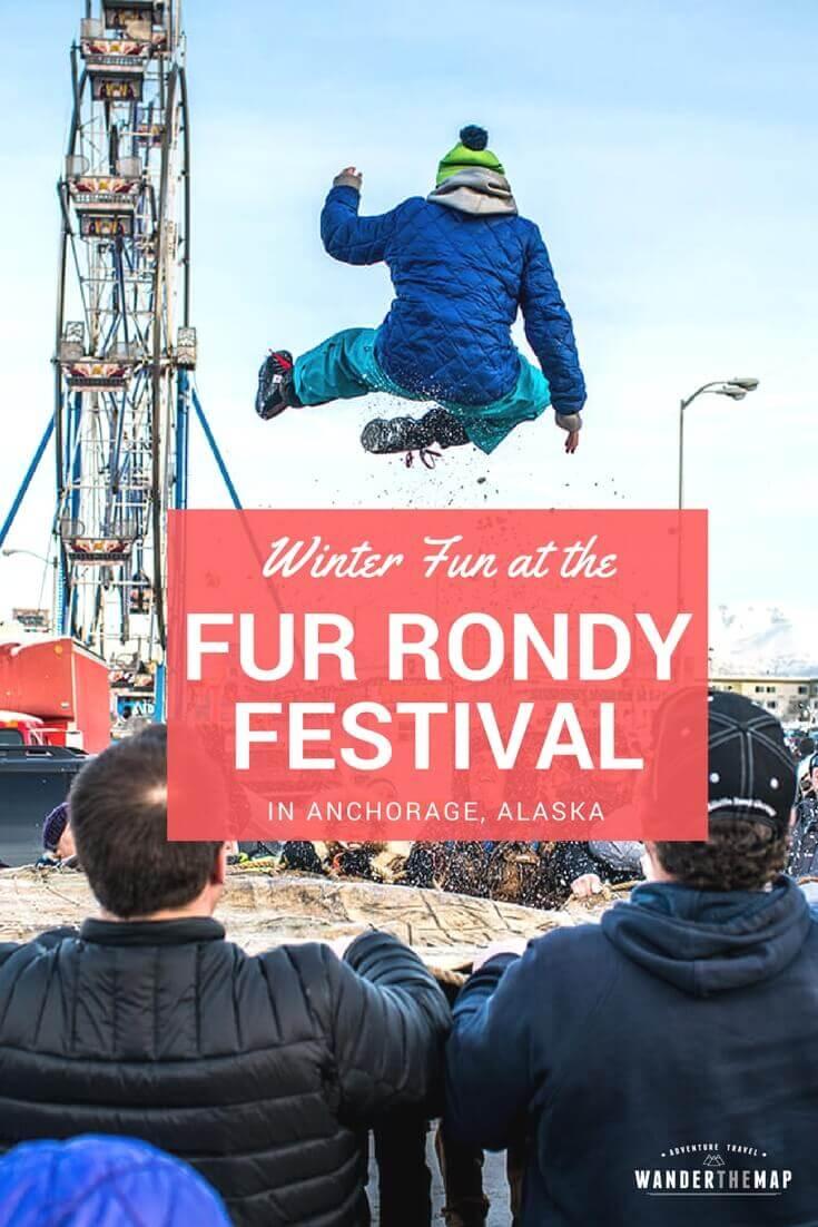 Festival fun at the Fur Rondy Festival in Anchorage, Alaska