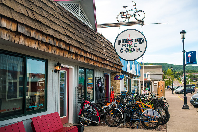 E-Bikes and Art in Grand Marais, Minnesota