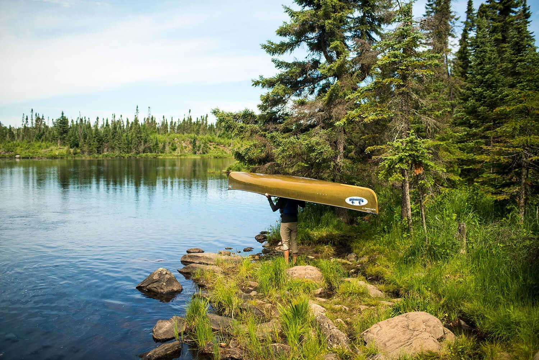 Canoeing Ham Lake, Tuscarora Lodge, Gunflint Trail, Minnesota