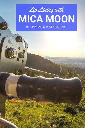 Zip Lining in Spokane, Washington, with Mica Moon Zip Tours