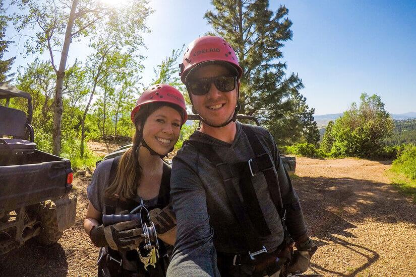 Zip Lining in Spokane, Washington, with Mica Moon Zip Tours