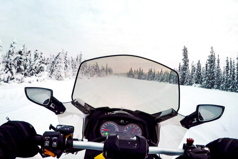 Snowmobiling at North Pole, Alaska