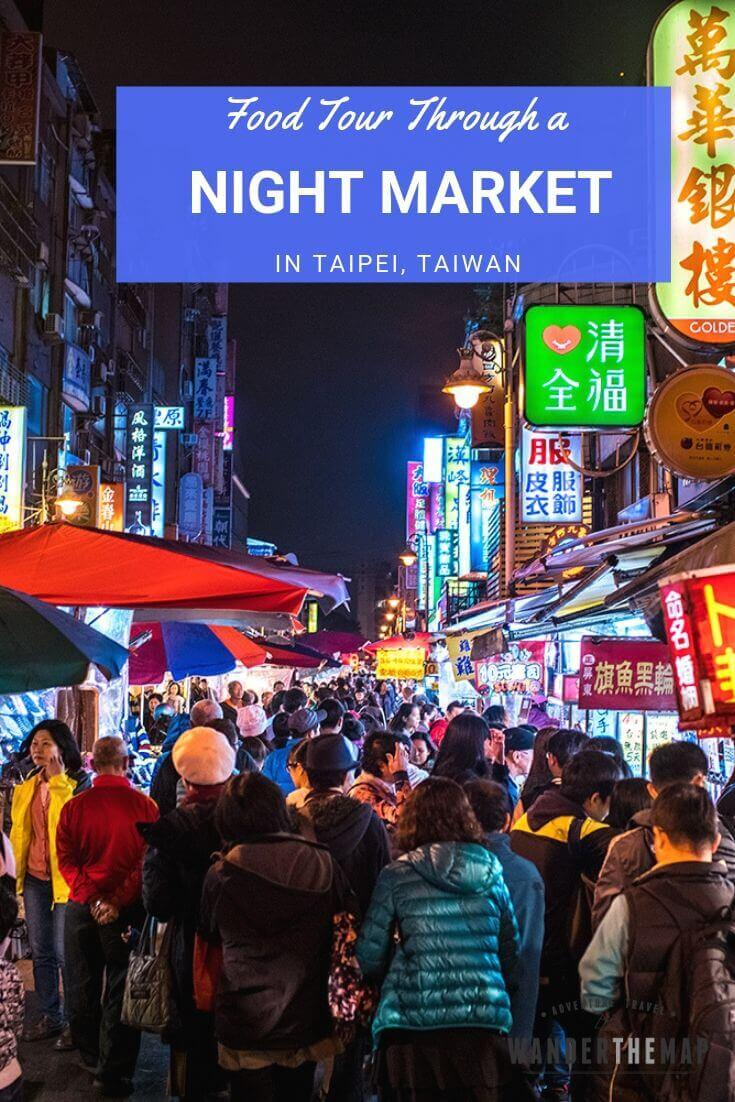 Tasty Treats: Night Market Street Food Tour in Taipei, Taiwan