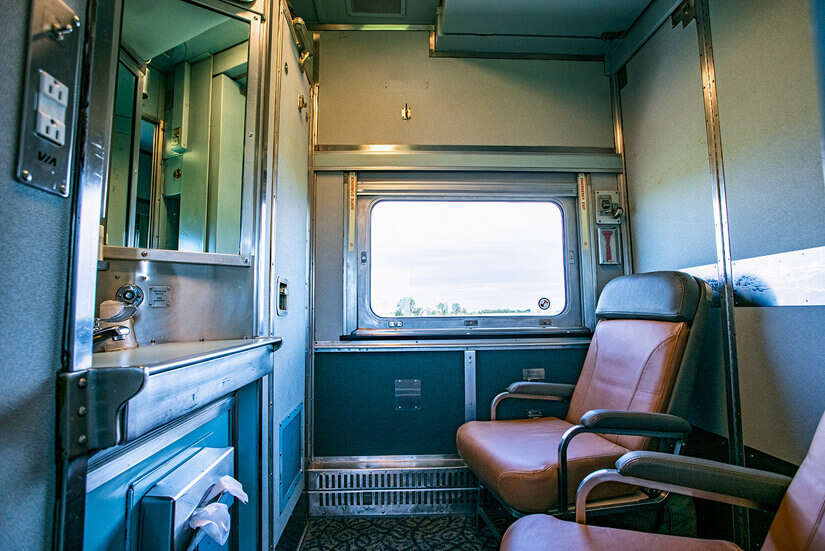 ViaRail Train from Winnipeg to Churchill, Manitoba, Canada