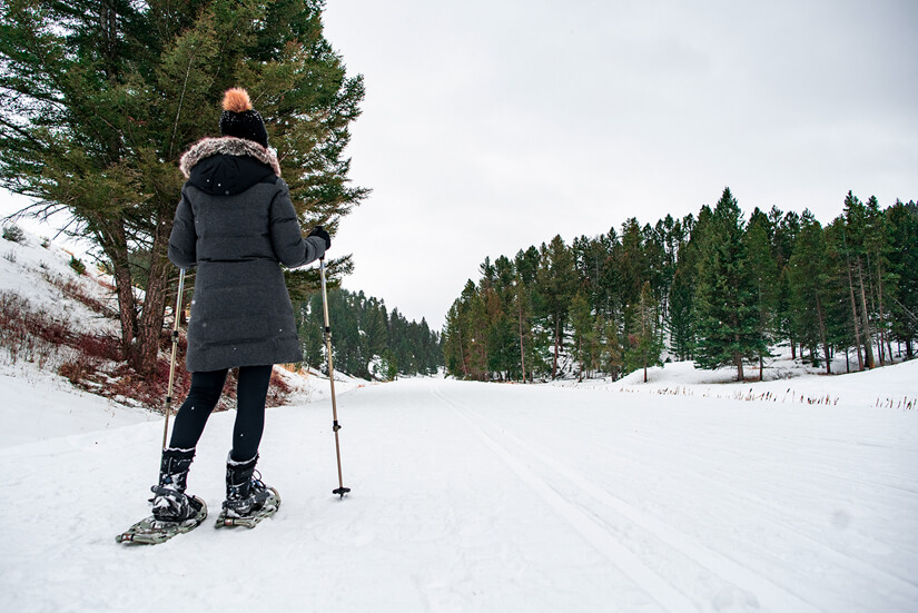 Hiking to Tower Fall, Winter Adventures in Yellowstone National Park